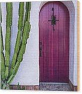 Magenta Door Wood Print