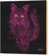 Magenta Feral Cat - 9905 F Wood Print