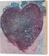 Magenta Heart Wood Print