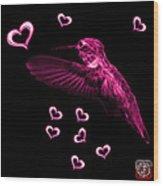 Magenta Hummingbird - 2055 F Wood Print