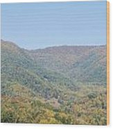 Maggie Valley In The Fall Wood Print