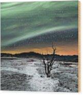 Magic Aurora Wood Print