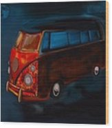 Magic Bus Wood Print