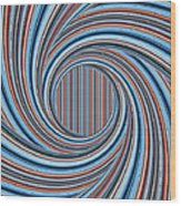 Magic Colorful Abstract Twisted Background Wood Print