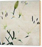 Magic Flowers Wood Print