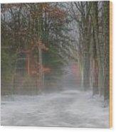 Magic In The Fog 3 Wood Print