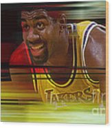 Magic Johnson Wood Print