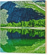 Magic Kobvatnet Norway. Time To Remember. Wood Print