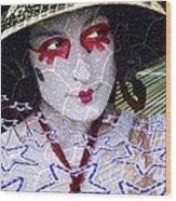 Magic Lady Goddess Wood Print