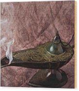 Magic Lamp Wood Print by Garry Gay