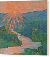Magic Light At Carvins Cove Wood Print