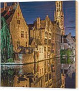 Magic Of Bruges Wood Print