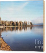 Magic On Seeley Lake Wood Print