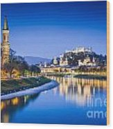 Magic Salzburg Wood Print