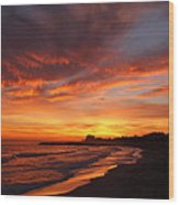 Magic Sunset Wood Print