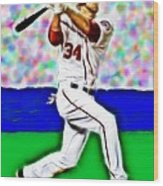 Magical Bryce Harper Connects Wood Print