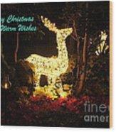 Magical Christmas Wood Print