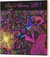 Magical Halloween 2014 V4 Wood Print