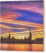 Magical London Wood Print