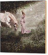 Magical Meadow Wood Print