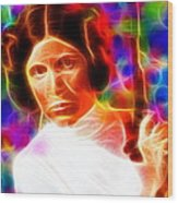 Magical Princess Leia Wood Print