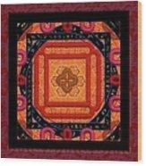 Magical Rune Mandala Wood Print
