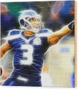 Magical Russell Wilson Wood Print