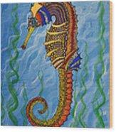 Magical Seahorse Wood Print