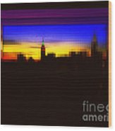 Magical Sunset And Skyline Wood Print