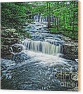 Magical Waterfall Stream Wood Print