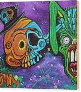 Magician De Los Muertos Wood Print