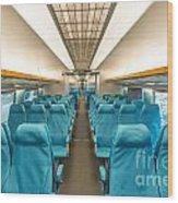 Maglev Train In Shanghai China Wood Print