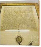 Magna Carta Wood Print