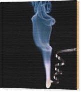 Magnesium Ribbon Burning In Air Wood Print