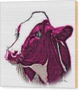Magneta Cow Holstein - 0034 Fs Wood Print