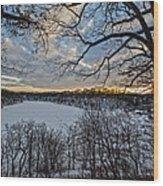 Magnetic Sunset Wood Print