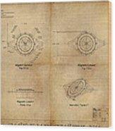 Magneto System Blueprint Wood Print