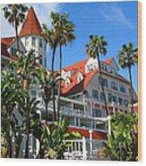 Magnificent Hotel Del Wood Print