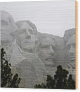 Magnificent Mount Rushmore Wood Print