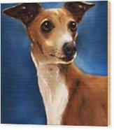 Magnifico - Italian Greyhound Wood Print by Michelle Wrighton