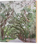 Magnolia Avenue Wood Print