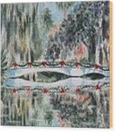 Magnolia Christmas Wood Print