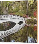 Magnolia Gardens' Bridge Wood Print