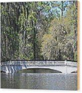 Charleston Sc Magnolia Gardens  Wood Print by Ella Char