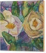 Magnolia Kaleidescope Wood Print