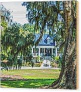 Magnolia Mansion Wood Print