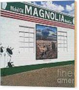 Magnolia Mobil Gas Wood Print