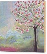 Magnolia Tree Wood Print