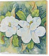 Magnolias Wood Print