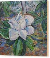 Magnolia's Flower Wood Print